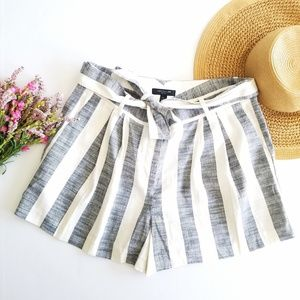 Ann Taylor | Striped Bow Waisted Shorts Size 12